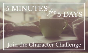 5-Day Character Writing Challenge
