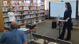 Indie Author Day at the Library Angelique L'Amour Stage