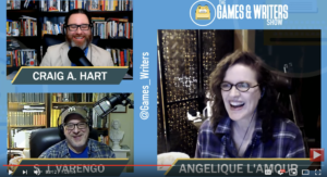 Angelique L'Amour on The Games & Writers Show