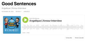 Good Sentences Interview with Angelique L'Amour
